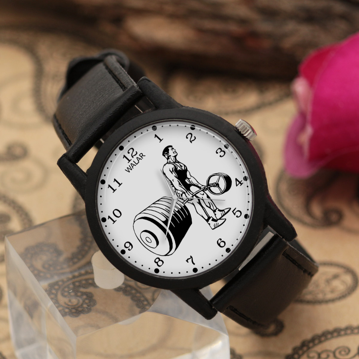 ساعت مچی عقربه ای مردانه والار طرح پاورلیفتینگ کد LF2222