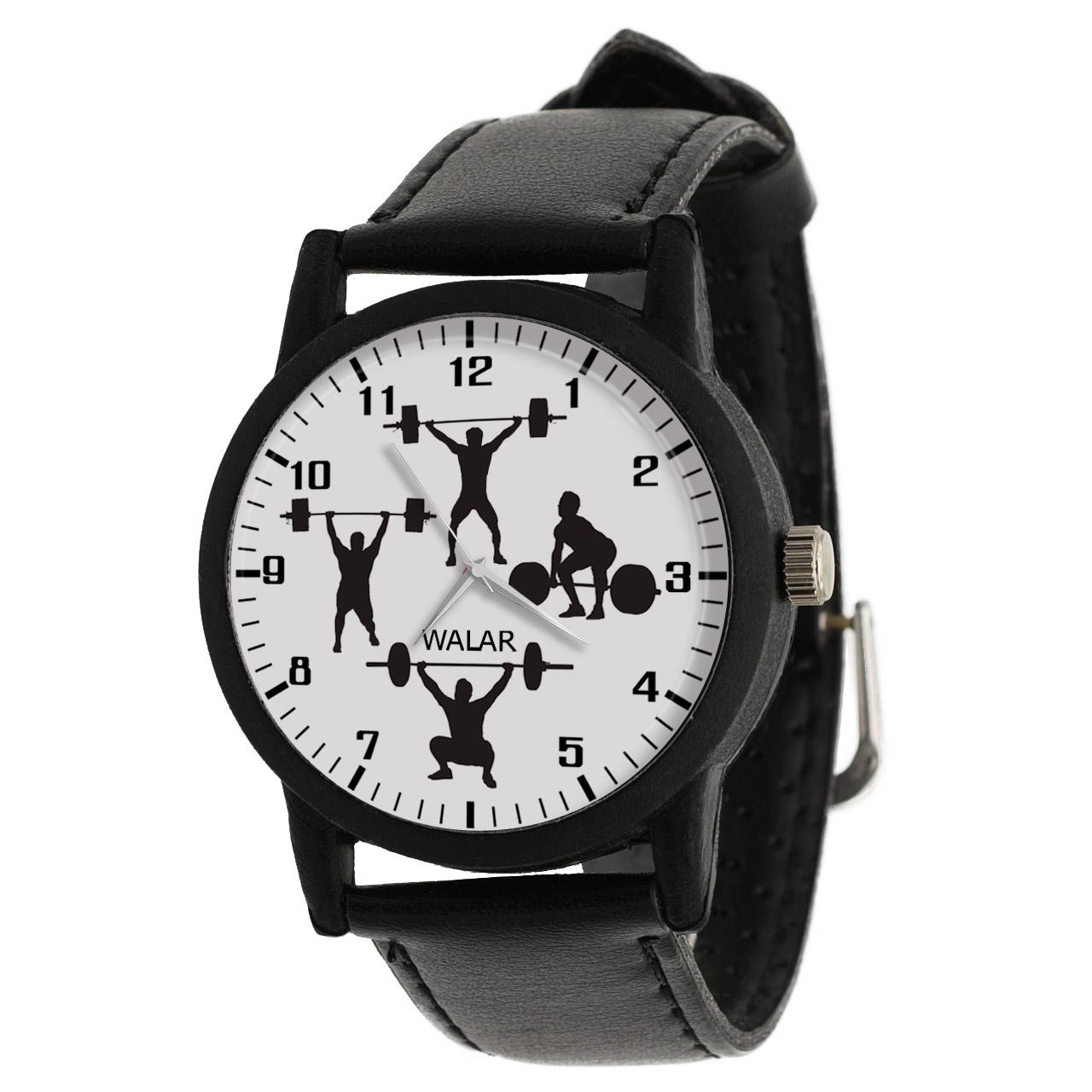 ساعت مچی عقربه ای مردانه والار طرح وزنه برداری کد LF2224
