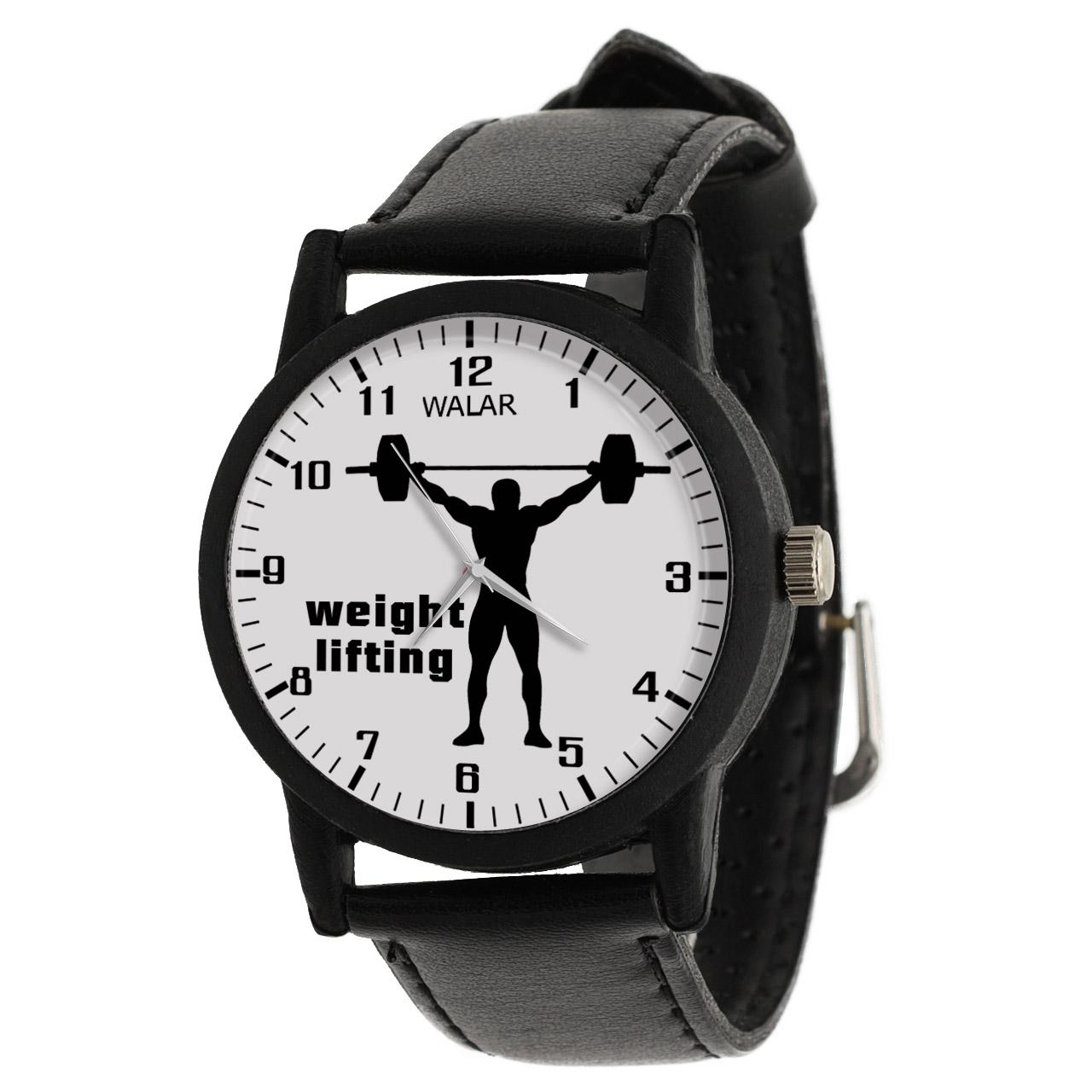 کد تخفیف                                      ساعت مچی عقربه ای مردانه والار طرح وزنه برداری کد LF2225