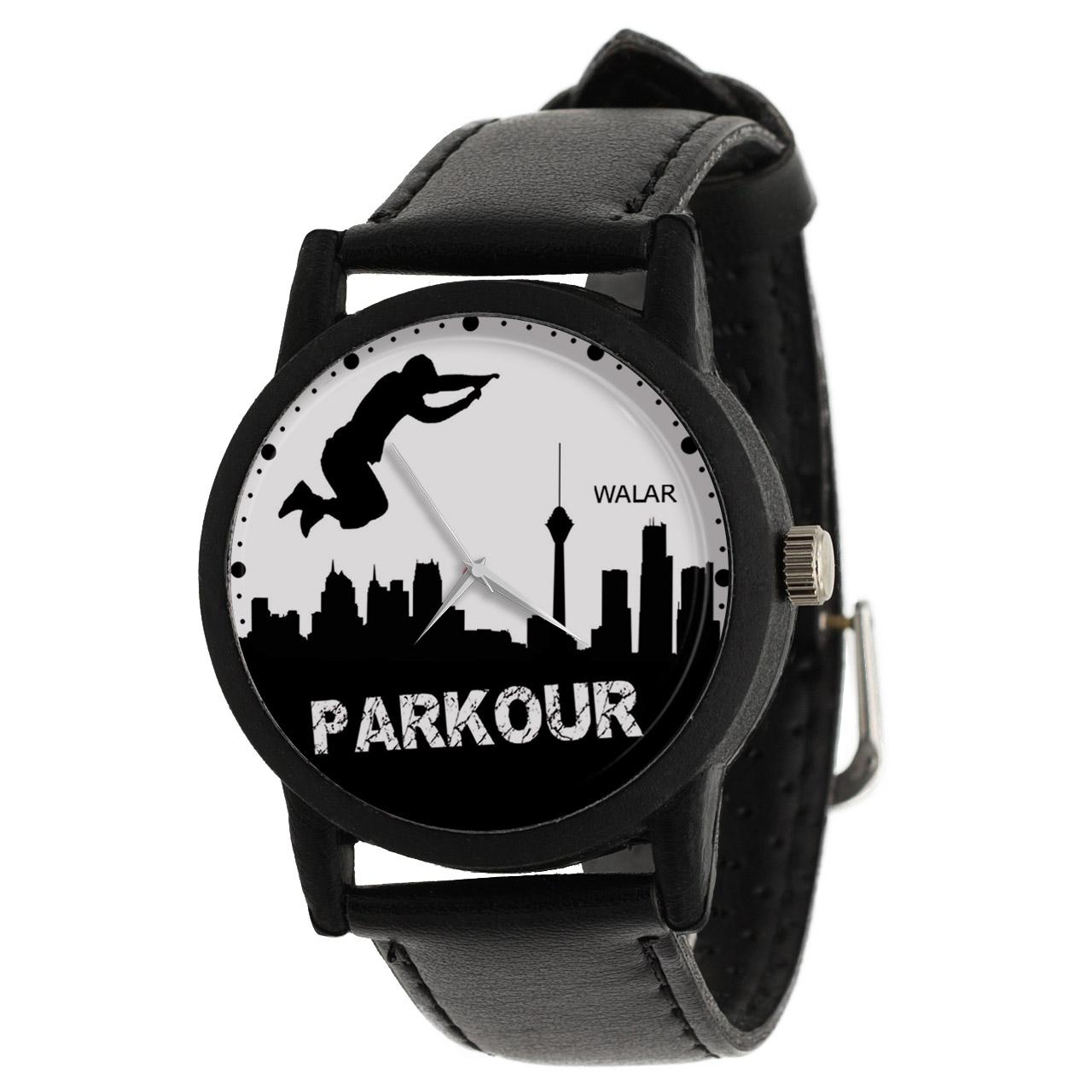 کد تخفیف                                      ساعت مچی عقربه ای مردانه والار طرح پارکور کد LF2227