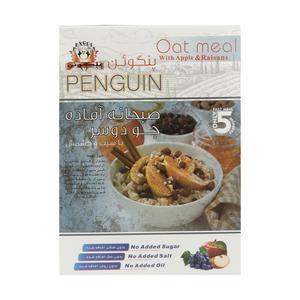 صبحانه آماده جو دو سر پرک پنگوئن با طعم سیب و کشمش - 375 گرم