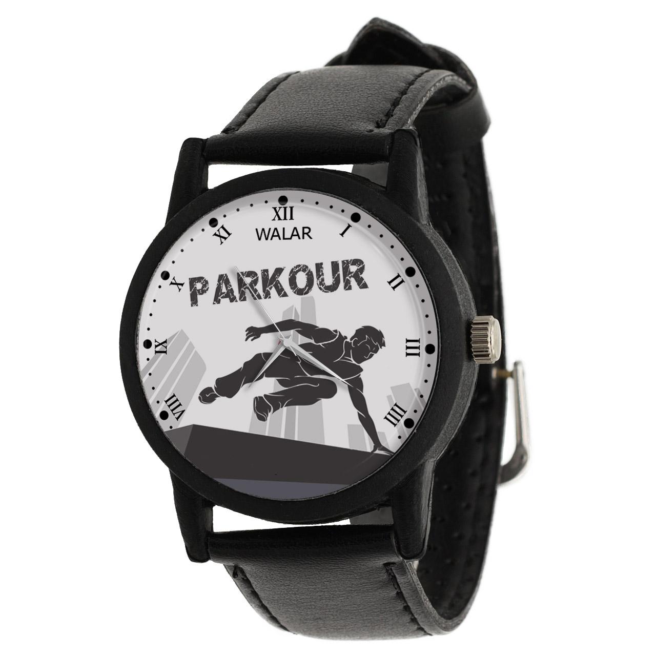 کد تخفیف                                      ساعت مچی عقربه ای مردانه والار طرح پارکور کد LF2230