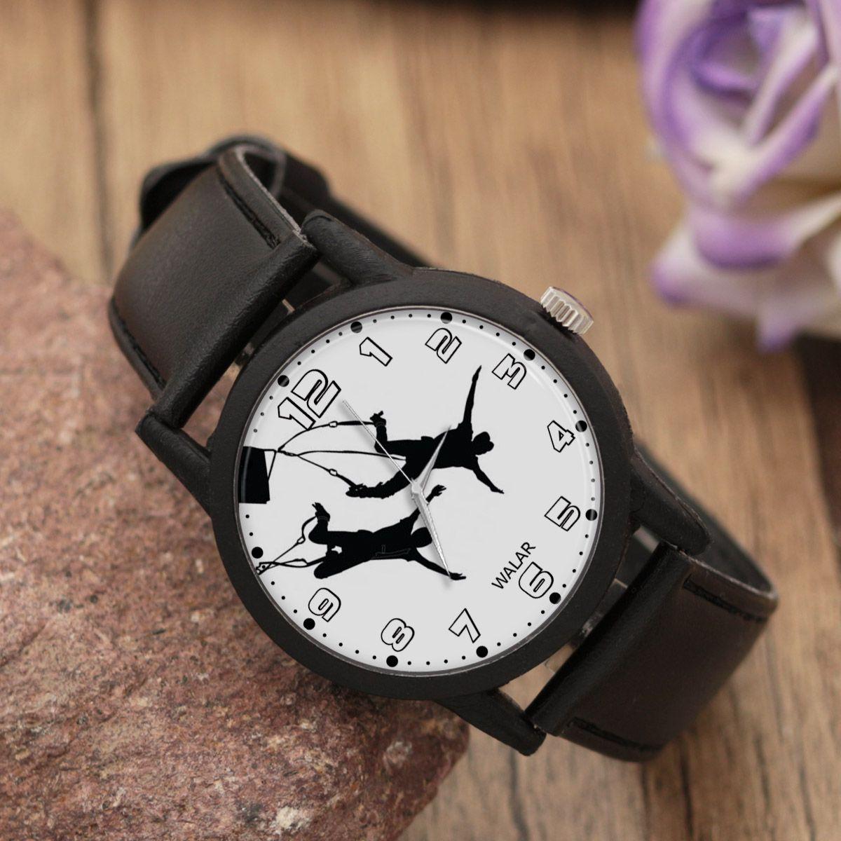 ساعت مچی عقربه ای والار طرح بانجی جامپینگ کد LF2234