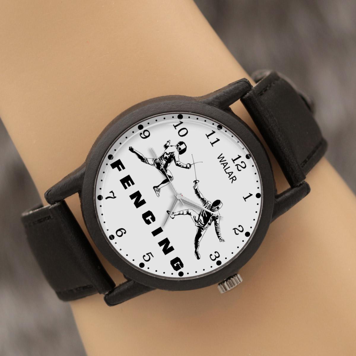 کد تخفیف                                      ساعت مچی عقربه ای والار طرح شمشیر بازی کد LF2235
