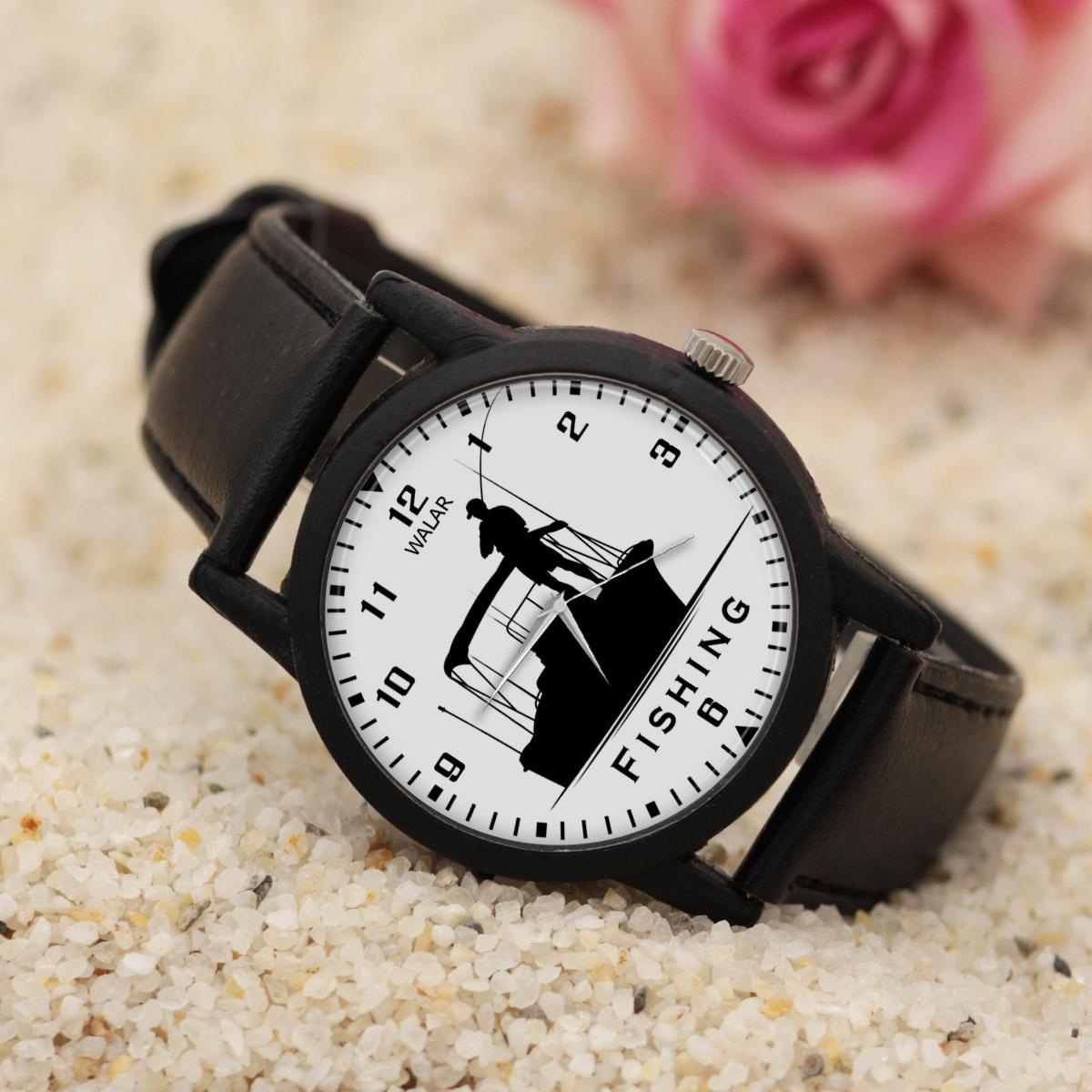 کد تخفیف                                      ساعت مچی عقربه ای والار طرح ماهیگیری کد LF2236