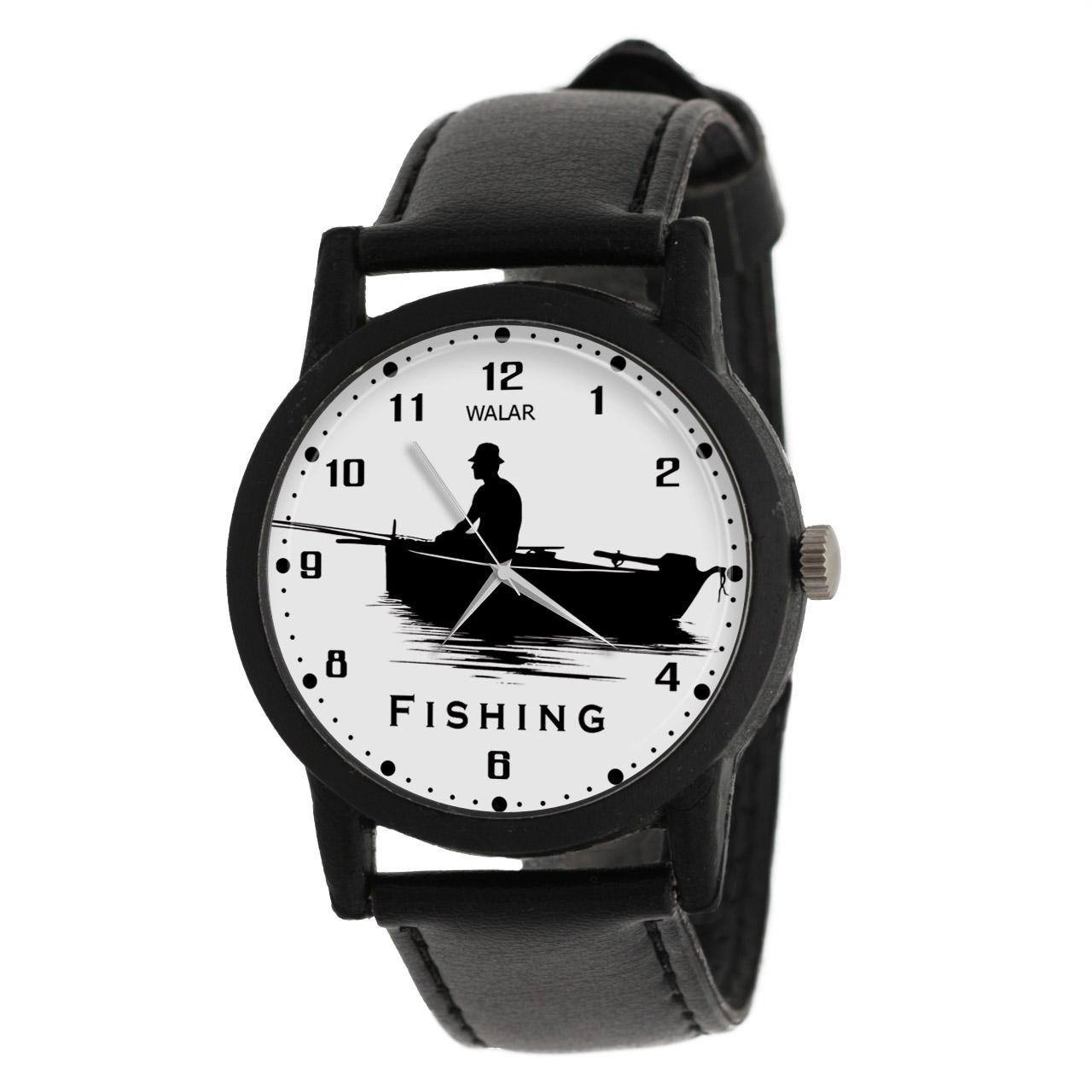 ساعت مچی عقربه ای مردانه والار طرح ماهیگیری کد LF2237