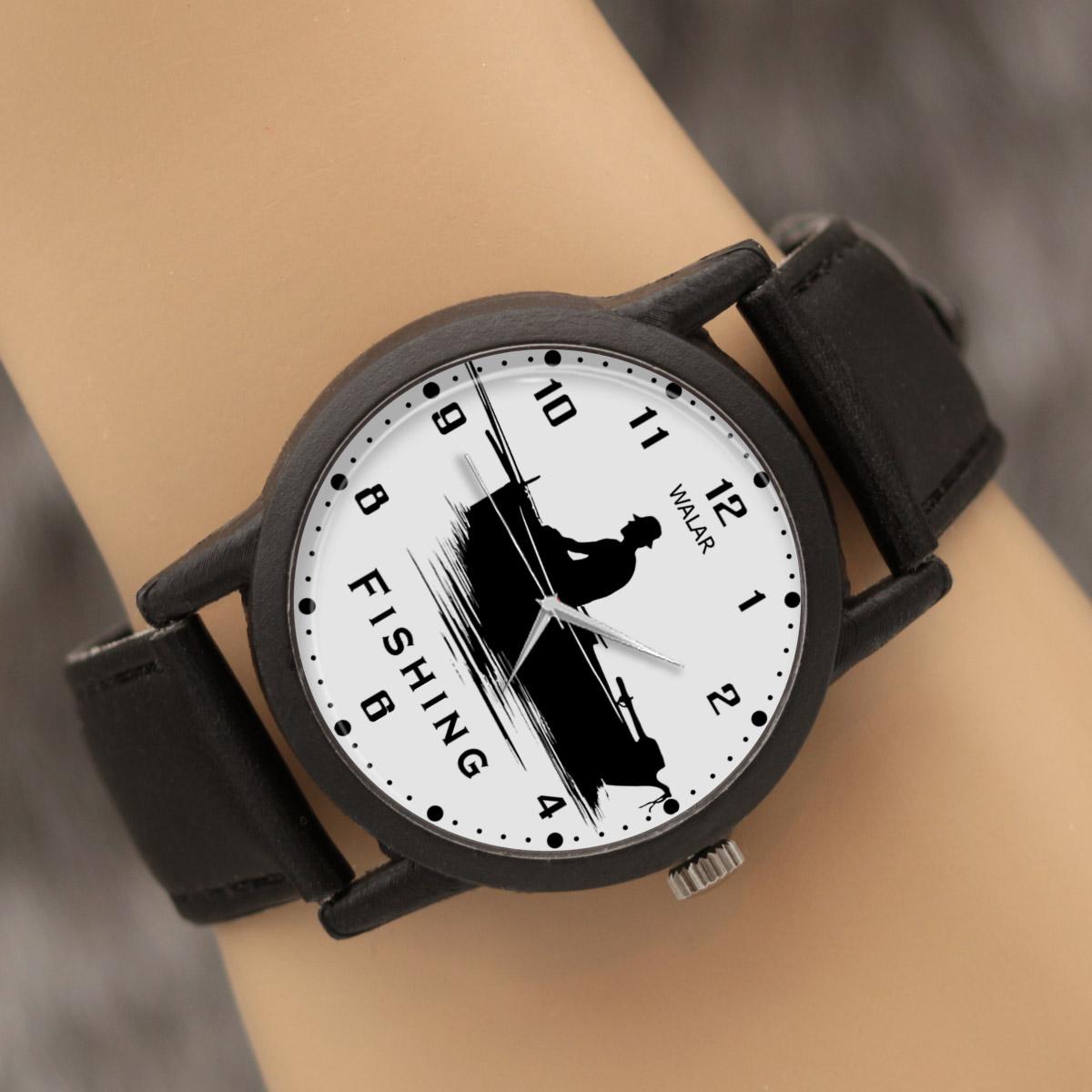 کد تخفیف                                      ساعت مچی عقربه ای مردانه والار طرح ماهیگیری کد LF2237