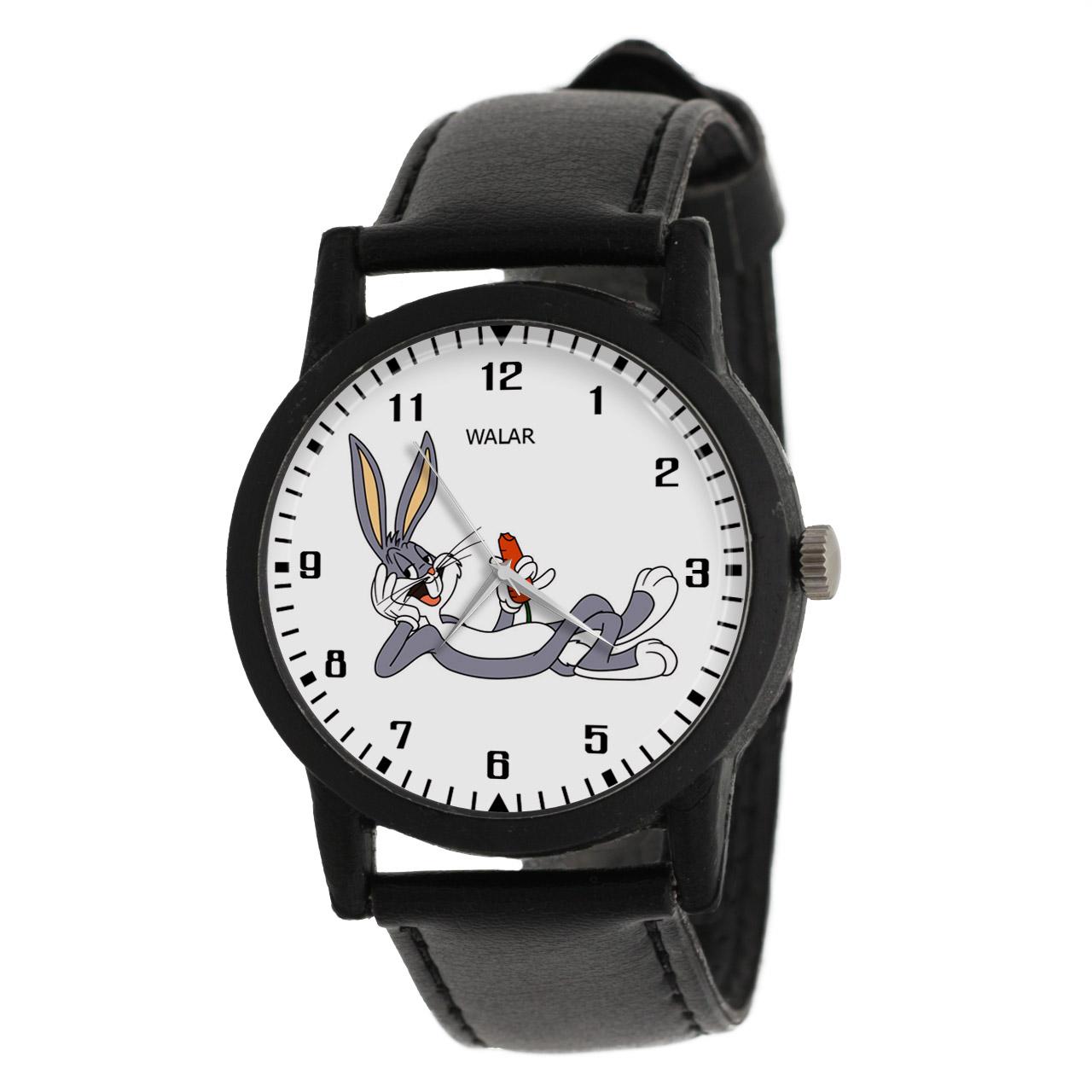کد تخفیف                                      ساعت مچی عقربه ای والار طرح باگز بانی کد LF2240