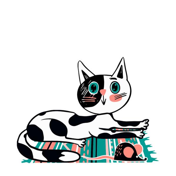 استیکر مستر راد طرح موش و گربه کد 046