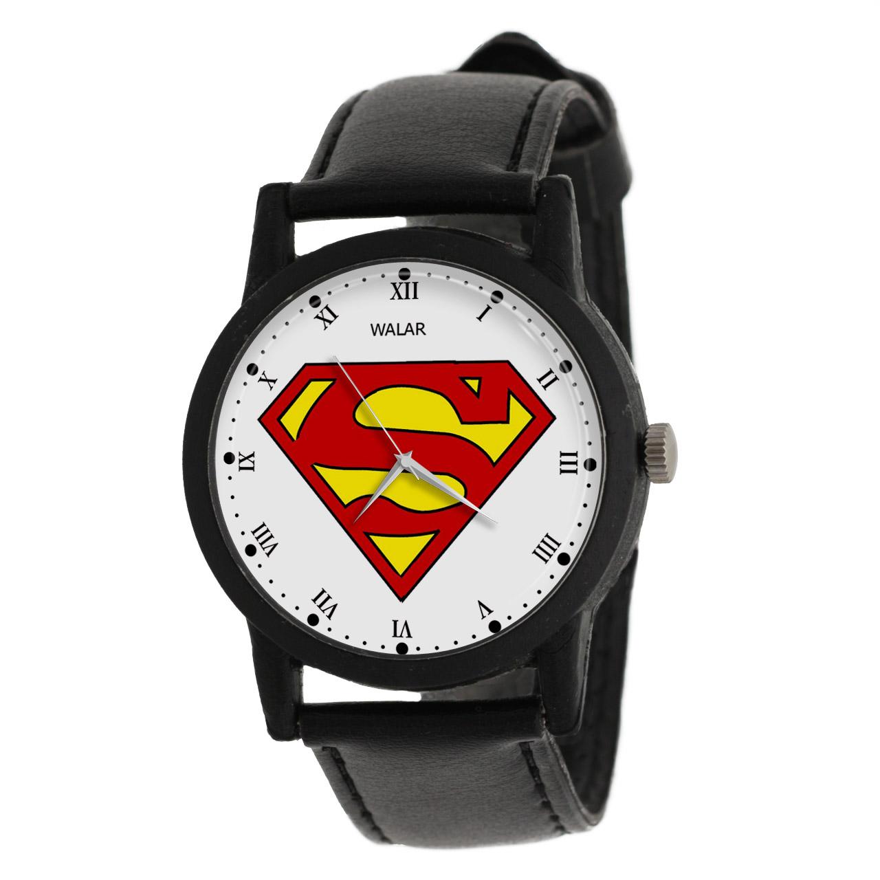 کد تخفیف                                      ساعت مچی عقربه ای والار طرح سوپرمن کد LF2245