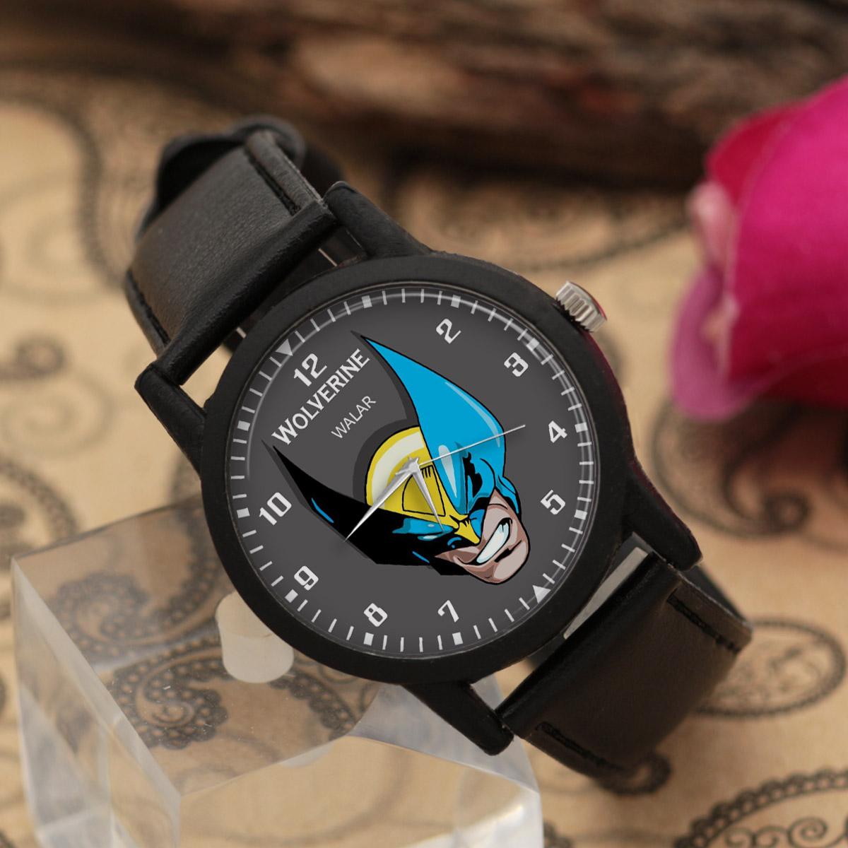 کد تخفیف                                      ساعت مچی عقربه ای مردانه والار طرح ولورین کد LF2251