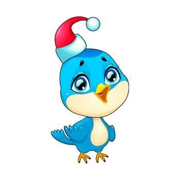 استیکر مستر راد طرح گنجشک کریسمس کد 048