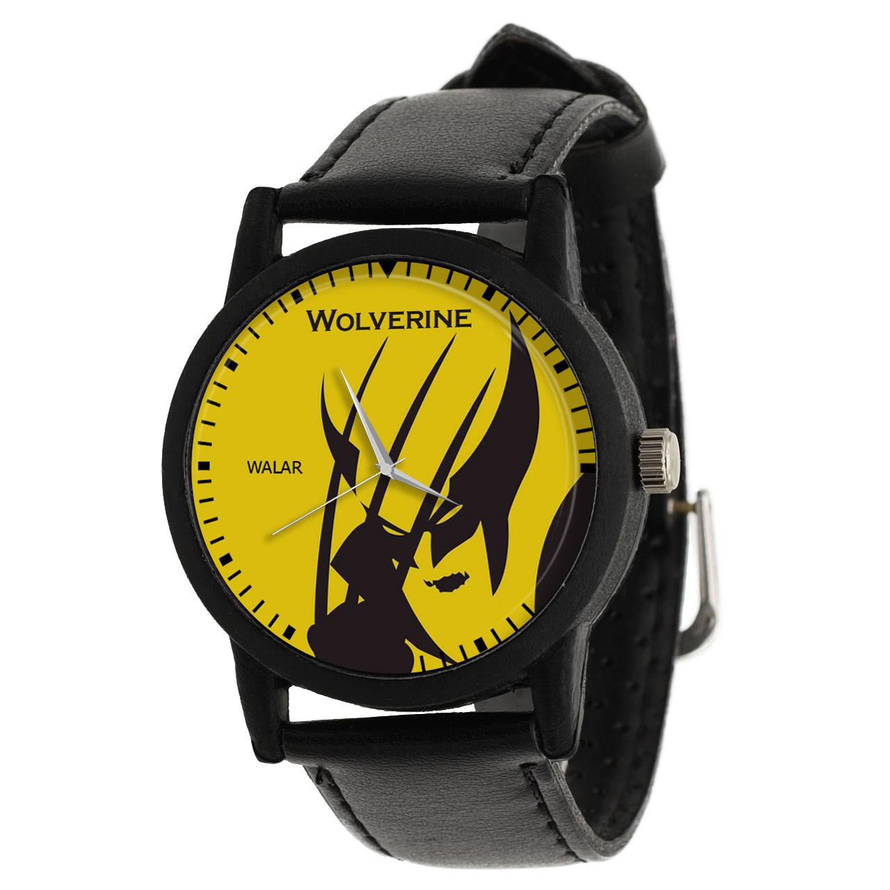 کد تخفیف                                      ساعت مچی عقربه ای مردانه والار طرح ولورین کد LF2252