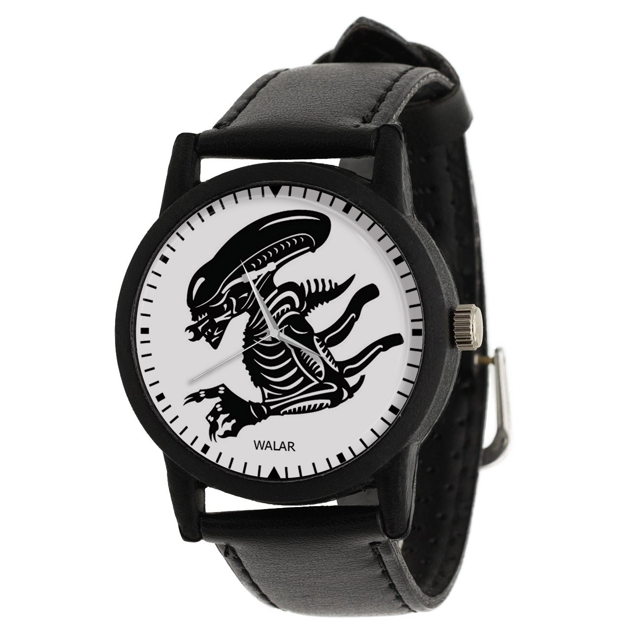 کد تخفیف                                      ساعت مچی عقربه ای مردانه والار طرح زنومورف کد LF2254