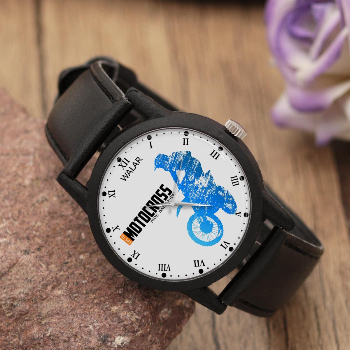 کد تخفیف                                      ساعت مچی عقربه ای والار طرح موتور سواری کد LF2259