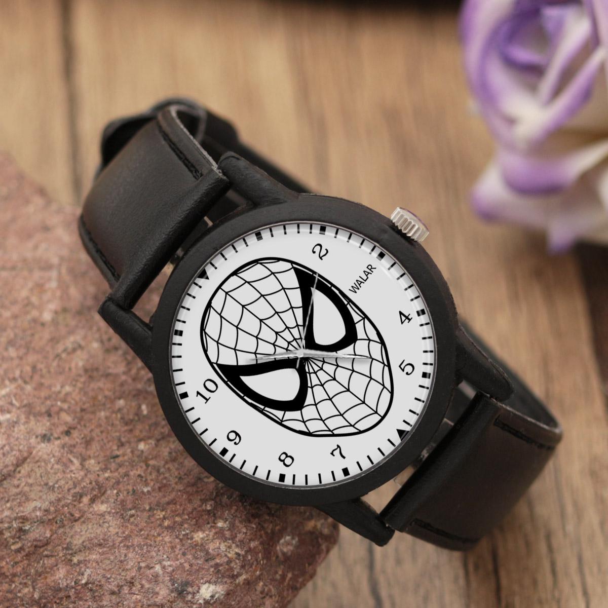 کد تخفیف                                      ساعت مچی عقربه ای والار طرح اسپایدرمن کد LF2260