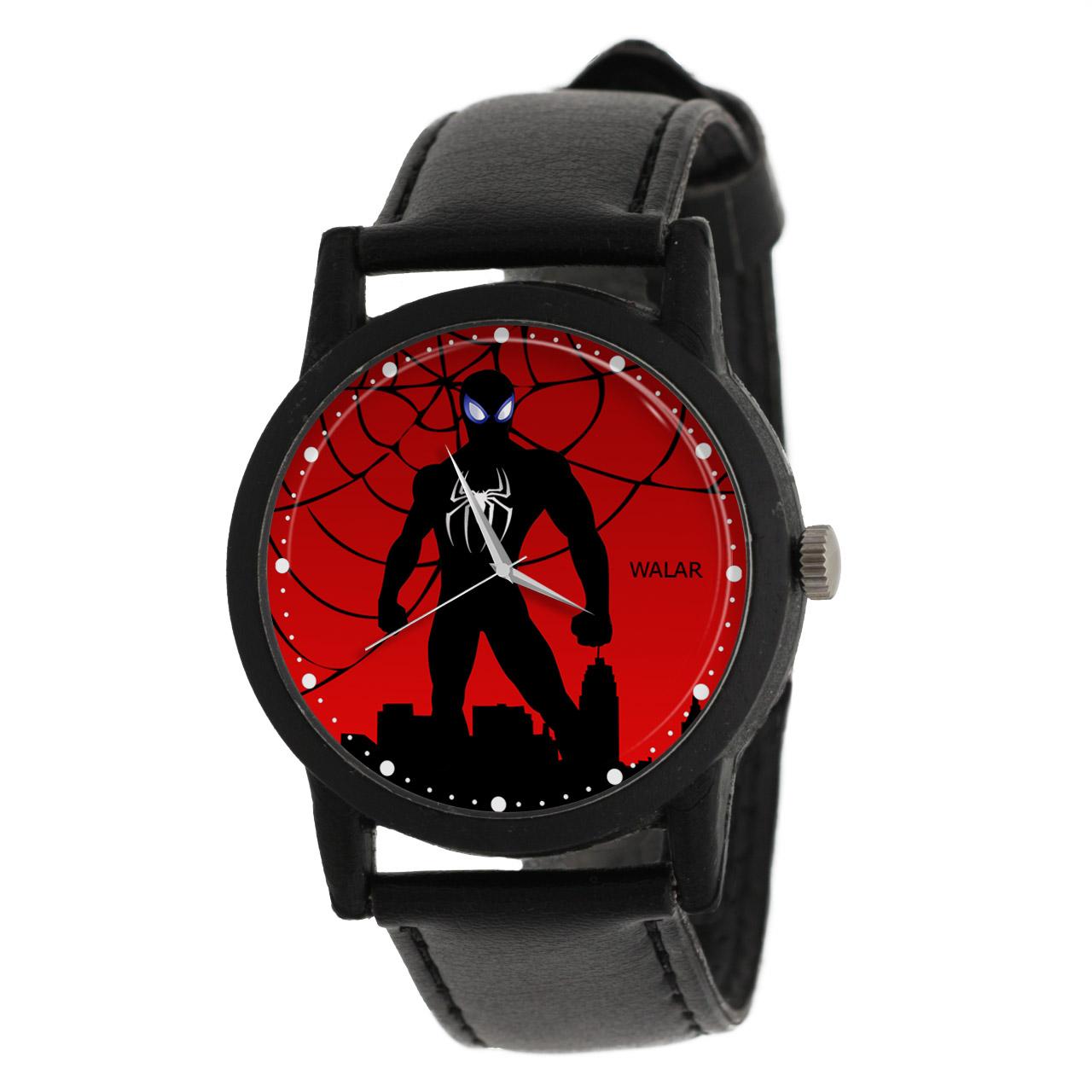 کد تخفیف                                      ساعت مچی عقربه ای والار طرح اسپایدرمن کد LF2264