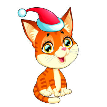 استیکر مستر راد طرح گربه کریسمس کد 049