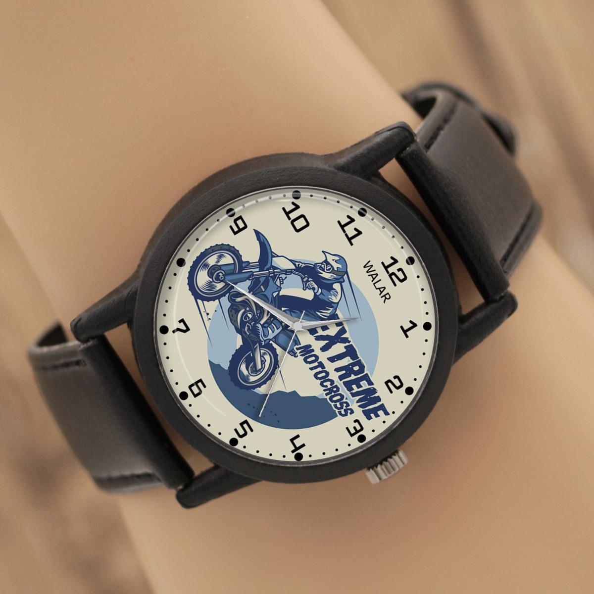 کد تخفیف                                      ساعت مچی عقربه ای والار طرح موتور کراس کد LF2270