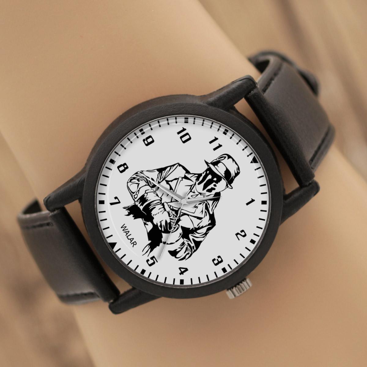 کد تخفیف                                      ساعت مچی عقربه ای والار طرح رورسچاچ کد LF2273