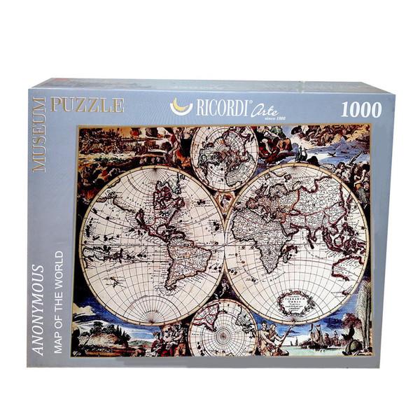 پازل 1000 تکه ریکوردی طرح نقشه جهان کد 110