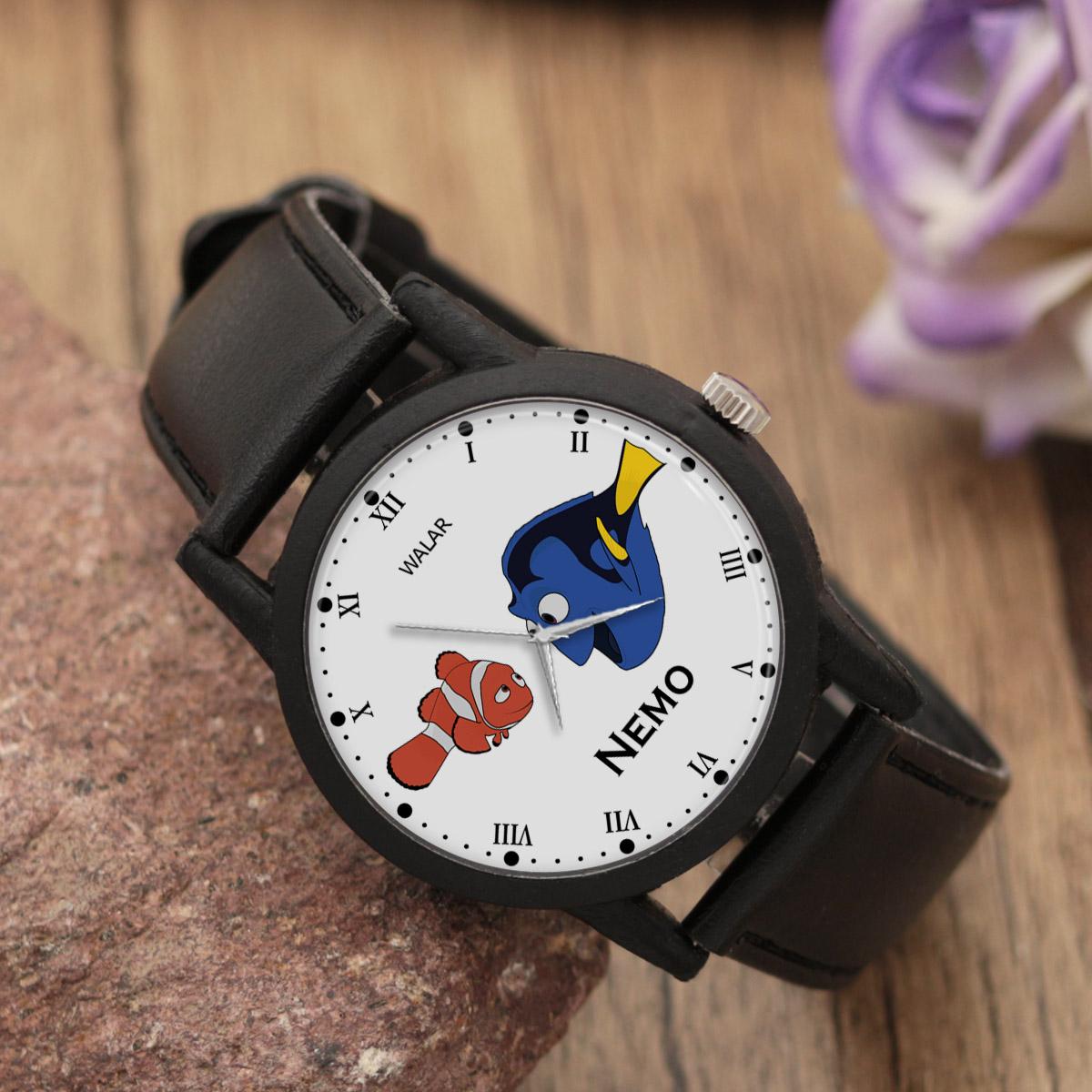 کد تخفیف                                      ساعت مچی عقربه ای والار طرح نمو کد LF2280