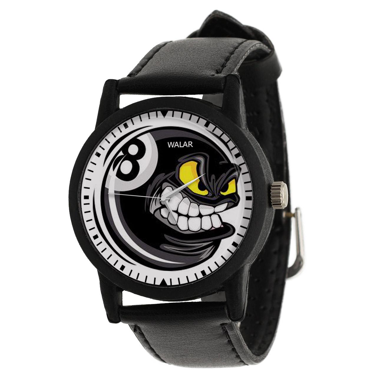 کد تخفیف                                      ساعت مچی عقربه ای والار طرح بیلیارد کد LF2281