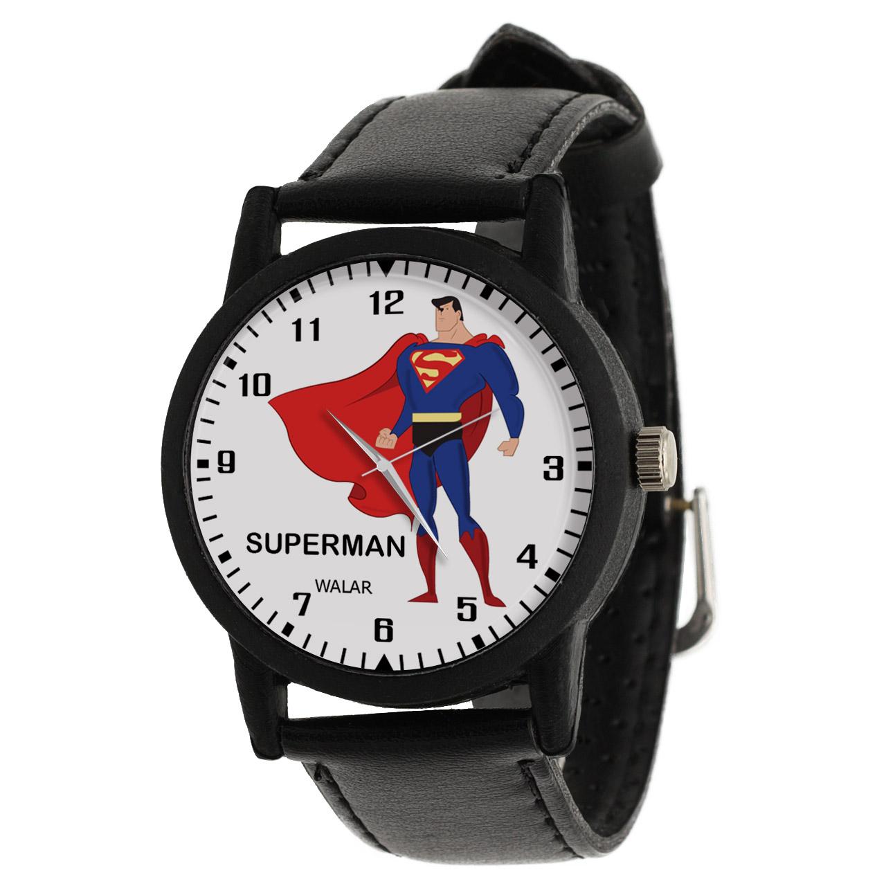 کد تخفیف                                      ساعت مچی عقربه ای والار طرح سوپرمن کد LF2283