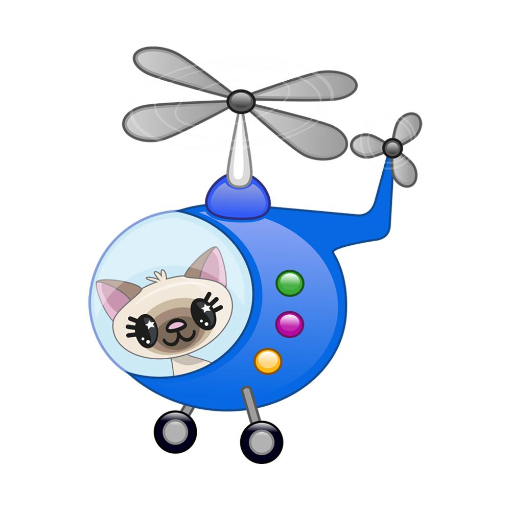 استیکر مستر راد طرح گربه خلبان کد 059