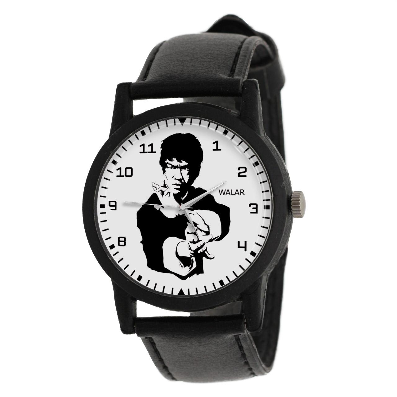 کد تخفیف                                      ساعت مچی عقربه ای والار طرح بروسلی کد LF2287