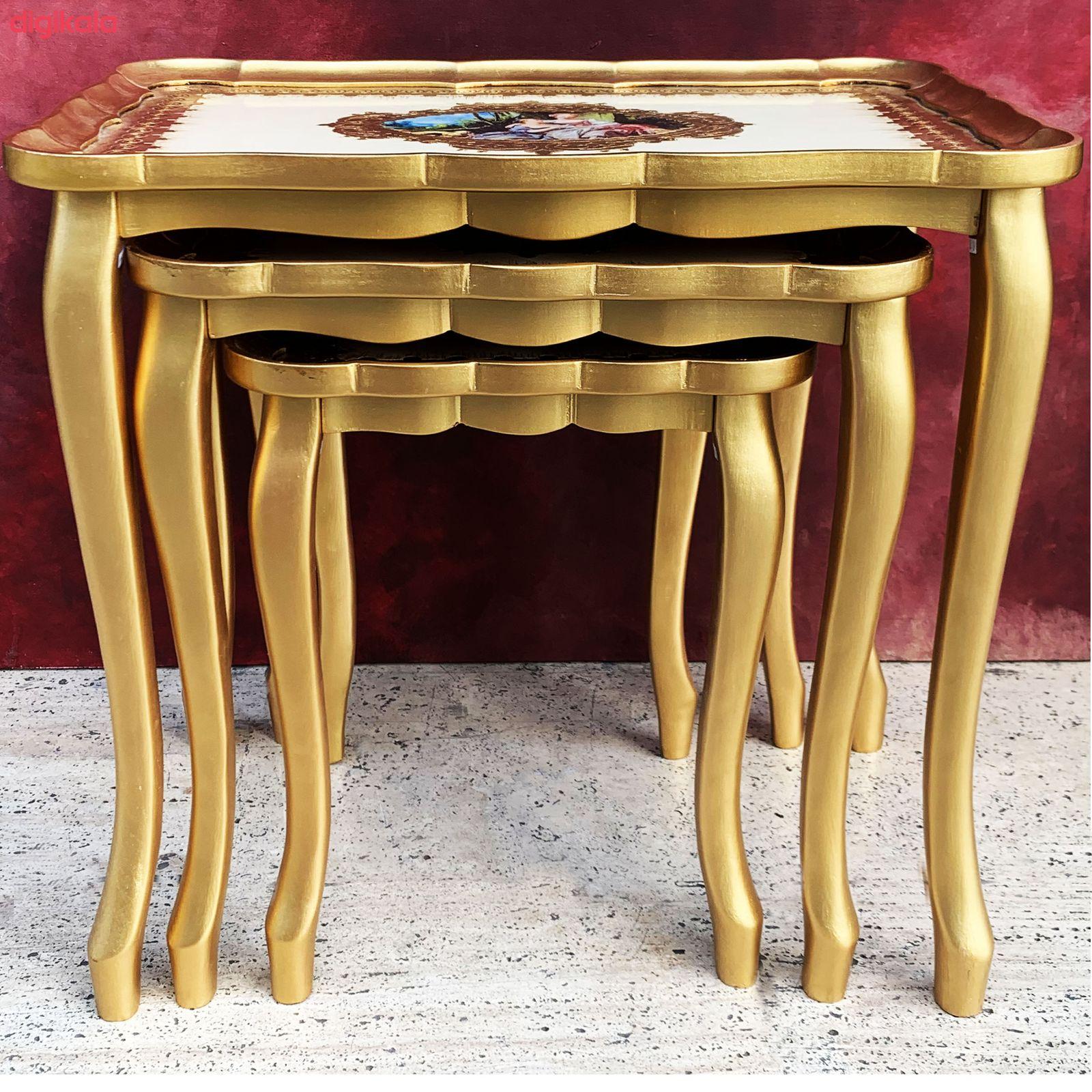 میز عسلی مدل A1000 مجمومه 3 عددی