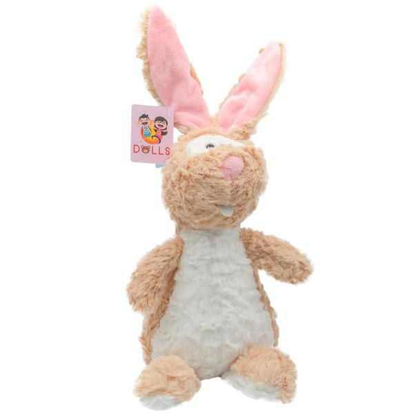 عروسک بی جی دالز طرح خرگوش زبان دراز ارتفاع 38 سانتی متر