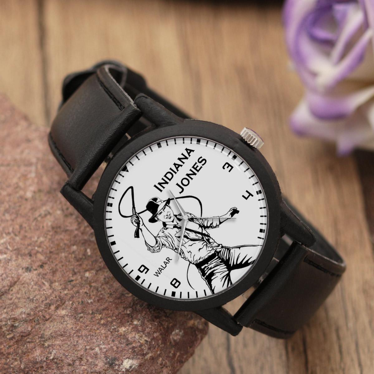 کد تخفیف                                      ساعت مچی عقربه ای مردانه والار طرح ایندیانا جونز کد LF2290