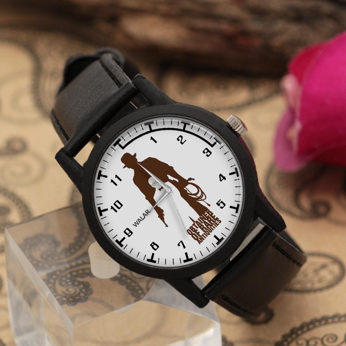 کد تخفیف                                      ساعت مچی عقربه ای مردانه والار طرح ایندیانا جونز کد LF2291