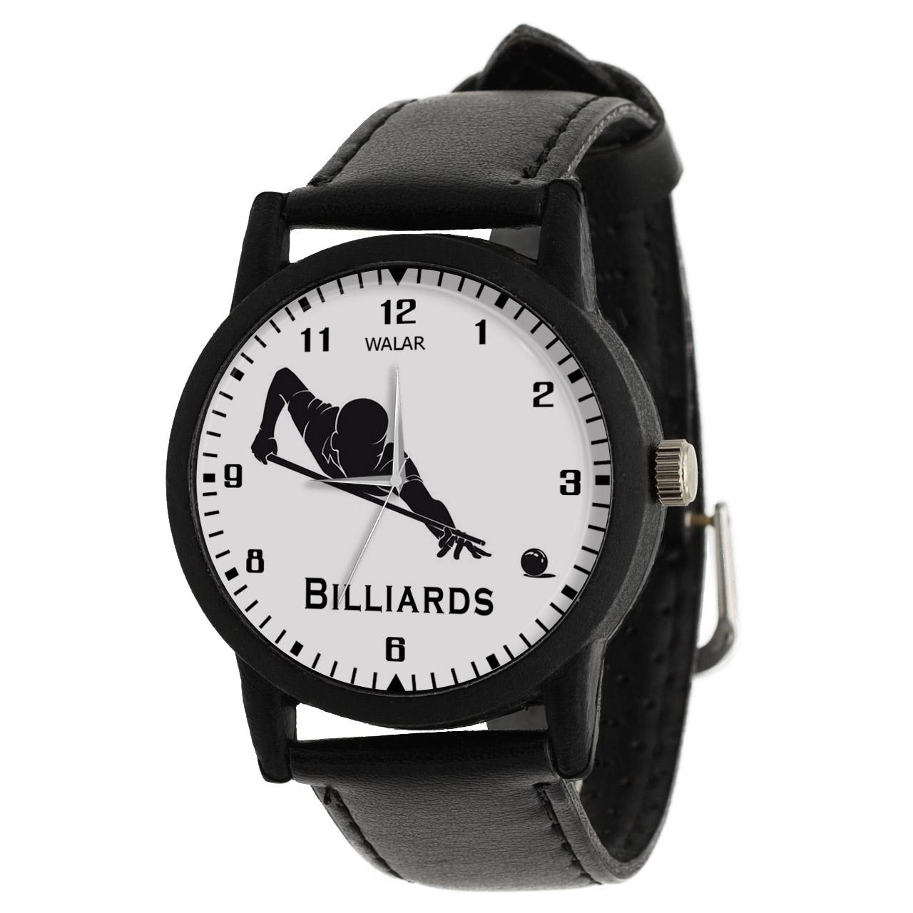 کد تخفیف                                      ساعت مچی عقربه ای مردانه والار طرح بیلیارد کد LF2292