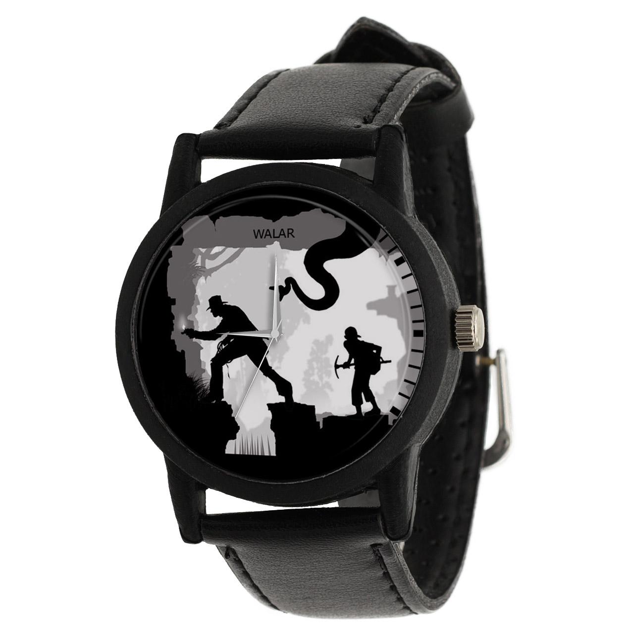کد تخفیف                                      ساعت مچی عقربه ای مردانه والار طرح ایندیانا جونز کد LF2293
