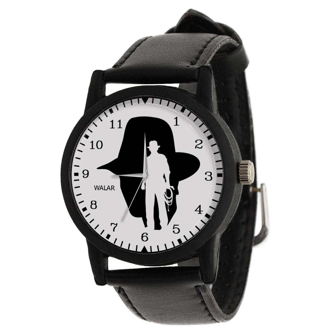 کد تخفیف                                      ساعت مچی عقربه ای مردانه والار طرح ایندیانا جونز کد LF2295