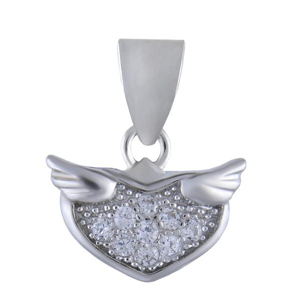 آویز گردنبند نقره زنانه بازرگانی میلادی کد PKR_010