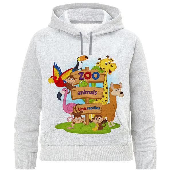 هودی پسرانه طرح حیوانات باغ وحش کد F211