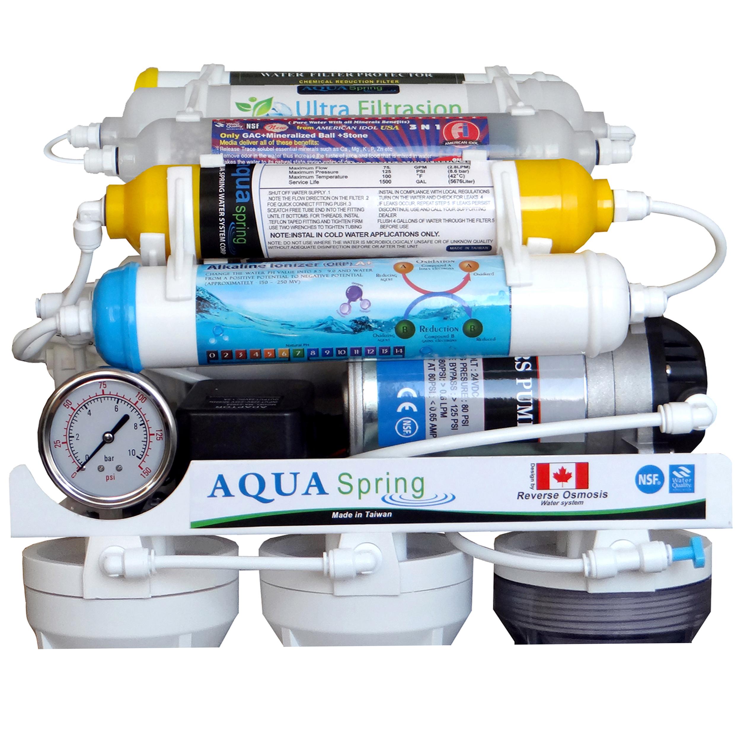 خرید اینترنتی دستگاه تصفیه کننده آب آکوآ اسپرینگ مدل RO-AF2200 با قیمت مناسب
