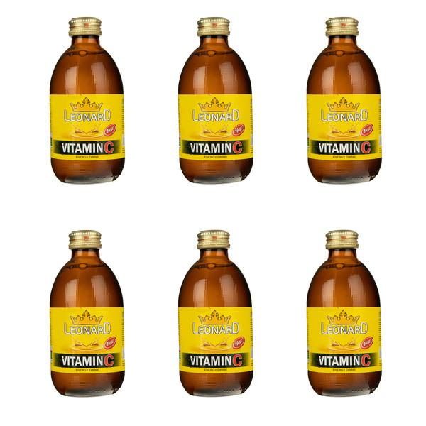 نوشابه انرژی زا ویتامین سی لئونارد - 240 گرم بسته 6 عددی