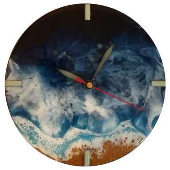 ساعت دیواری طرح دریا کد 03