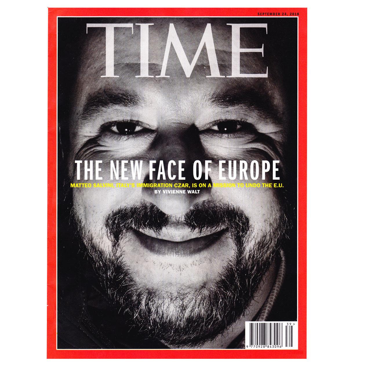 مجله Time  سپتامبر 2018