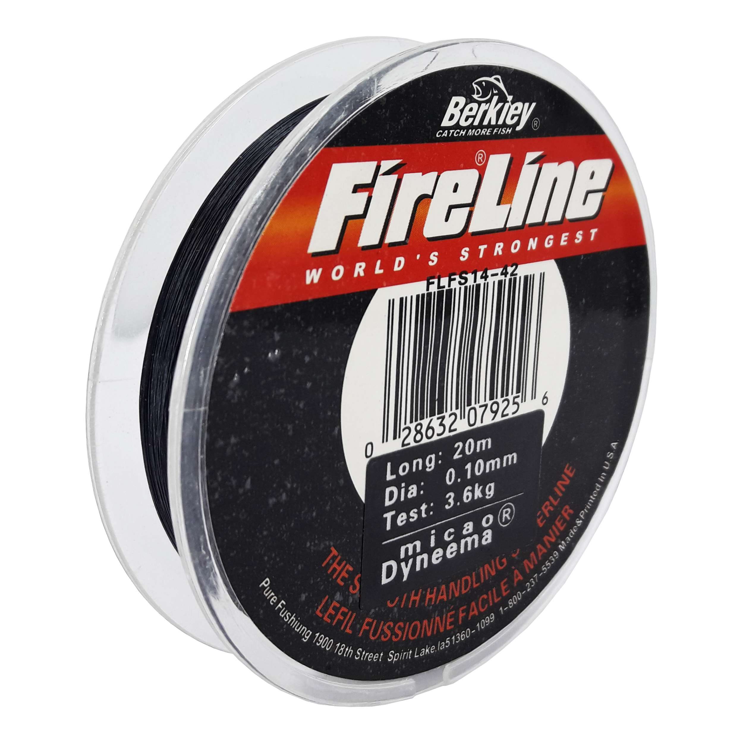 نخ ماهیگیری برکی مدل FIRE LINE سایز 0.10 میلی متر