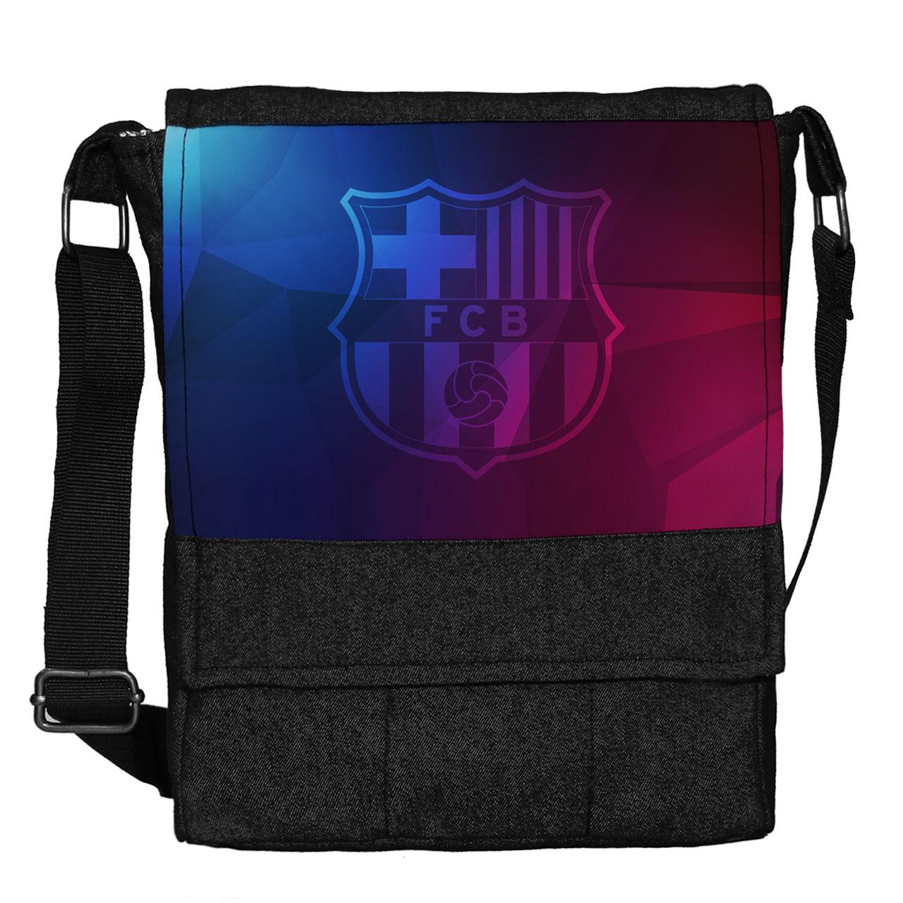 کیف دوشی چی چاپ طرح بارسلونا کد 65633