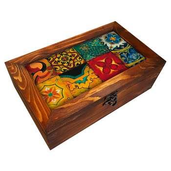 جعبه هدیه چوبی کد BG15