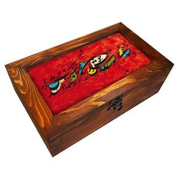 جعبه هدیه چوبی کد BG17