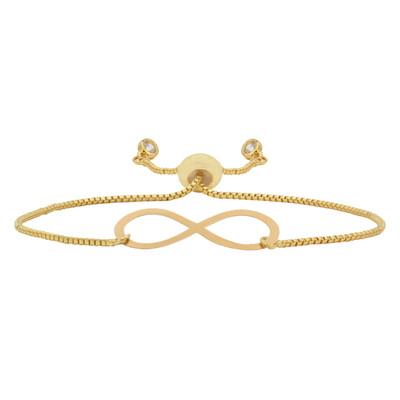 تصویر دستبند طلا 18 عیار زنانه آمانژ طرح بینهایت کد 968D3360