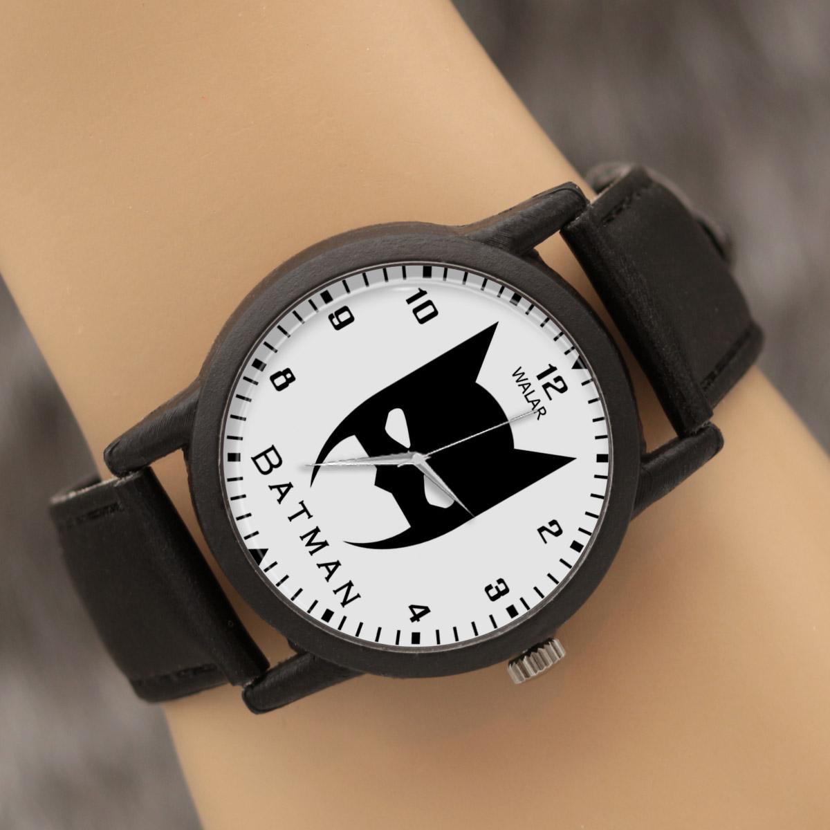 کد تخفیف                                      ساعت مچی عقربه ای والار طرح بتمن کد LF2305