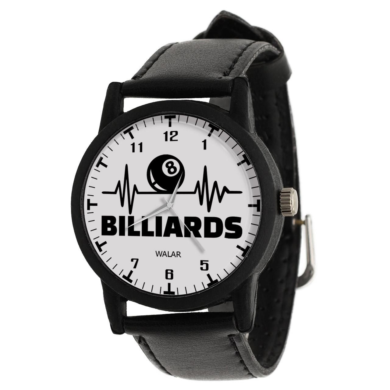 کد تخفیف                                      ساعت مچی عقربه ای والار طرح بیلیارد کد LF2314